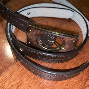 $bogo$ Chico's women's brown belt large thin